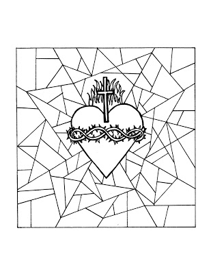 309x400 Look To Him And Be Radiant Sacred Heart Of Jesus Coloring Pages