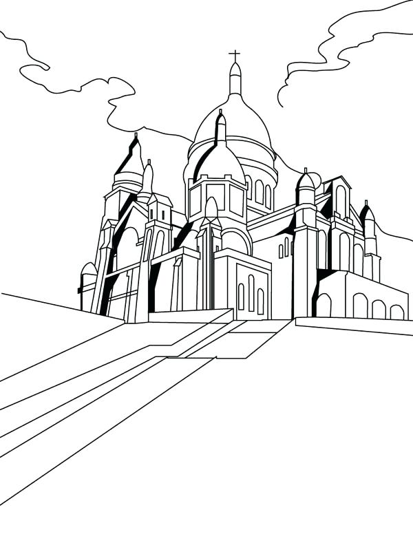 600x776 Middle Ages Coloring Pages Middle Ages The Basilica Of The Sacred