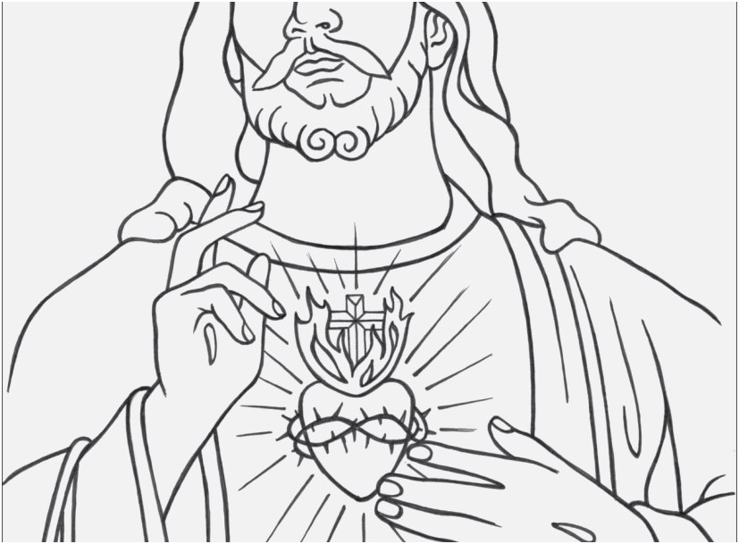 827x609 The Most Effective Gallery Jesus Coloring Pages Perfect
