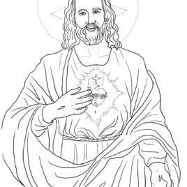268x268 Coloring Page Sacred Heart Of Jesus Archives