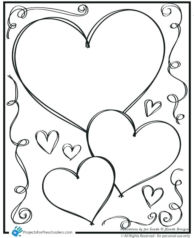 650x800 Heart Coloring Book Also Printable Heart Coloring Pages Coloring