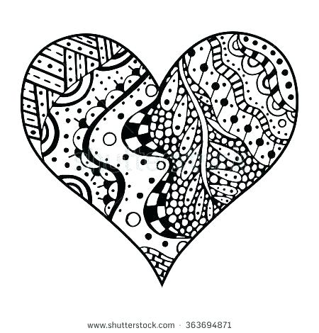 450x470 Hearts Coloring Pages For Adults Coloring Page Heart Coloring Page