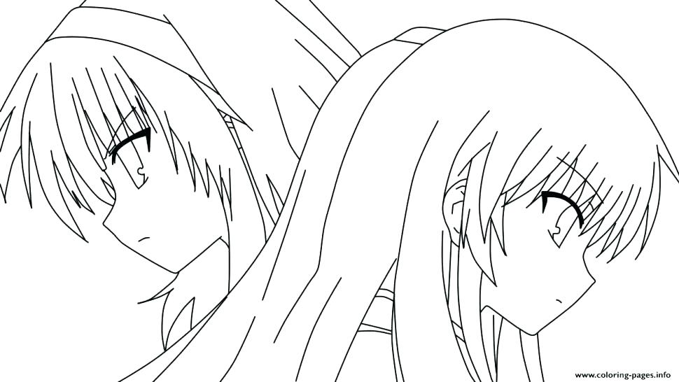 970x546 Anime Girl Coloring Pages Printable Cute For Girls Kids Cool