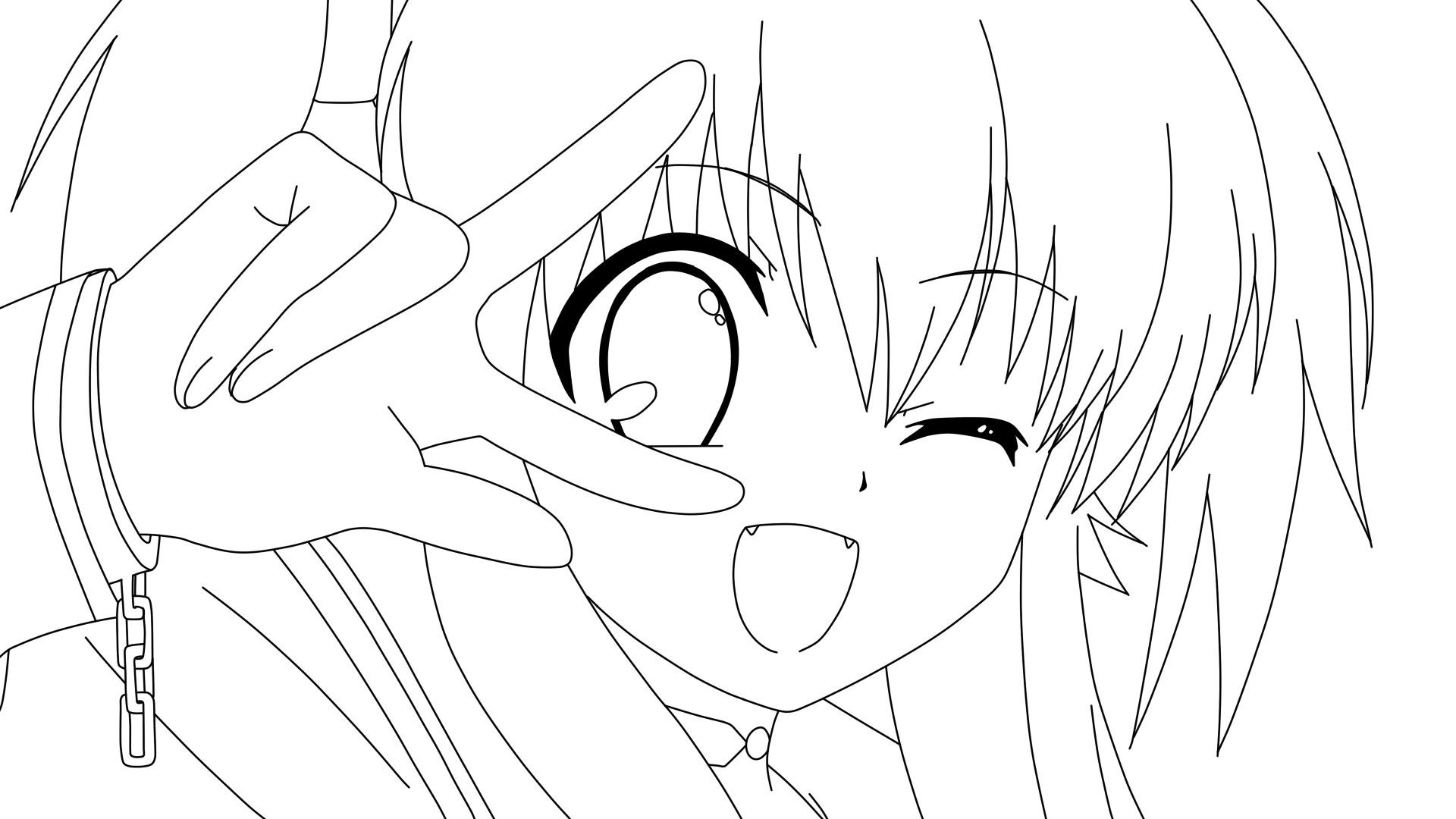 1920x1080 Awesome Anime Girl Coloring Sheets Coloring For Kids Free