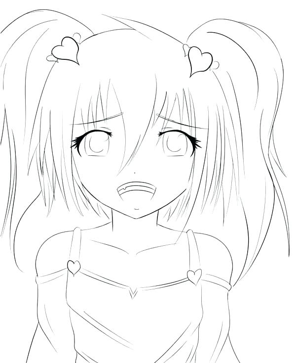 600x734 Free Girl Coloring Pages Anime Girls Coloring Pages For Adults