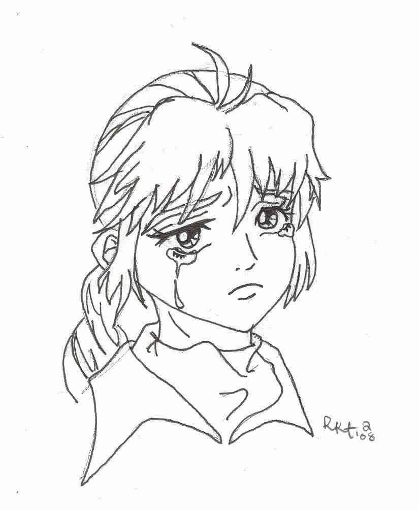 825x1006 Photo Sad Anime Girl Coloring Page Images Tefl