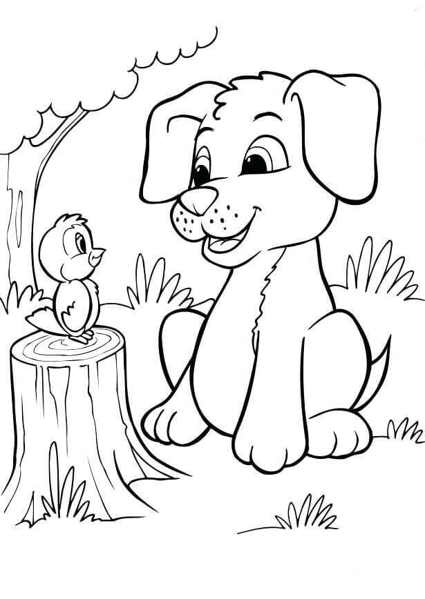Sad Puppy Coloring Pages