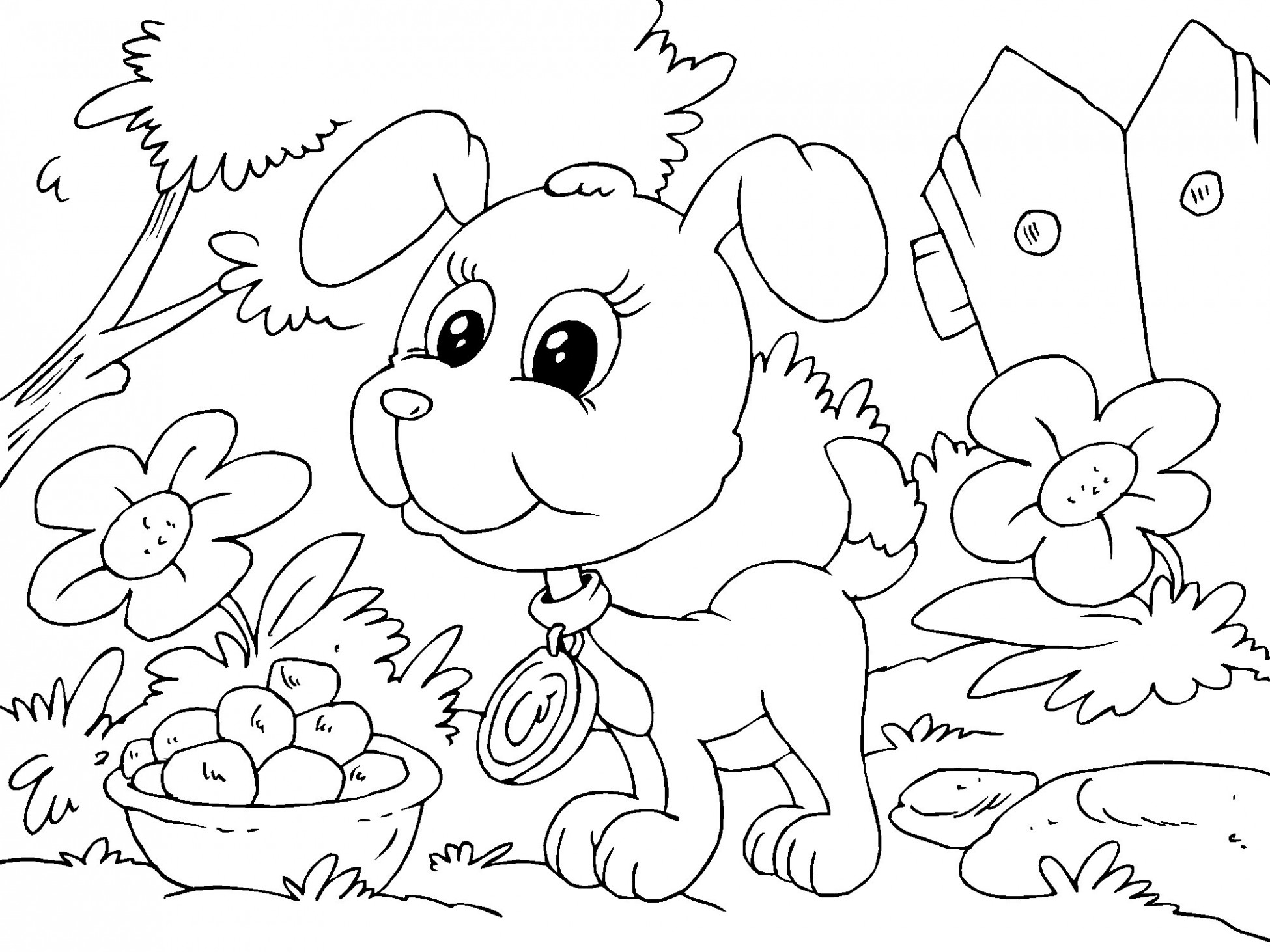 Sad Puppy Coloring Pages At Getdrawings Com Free For Personal Use