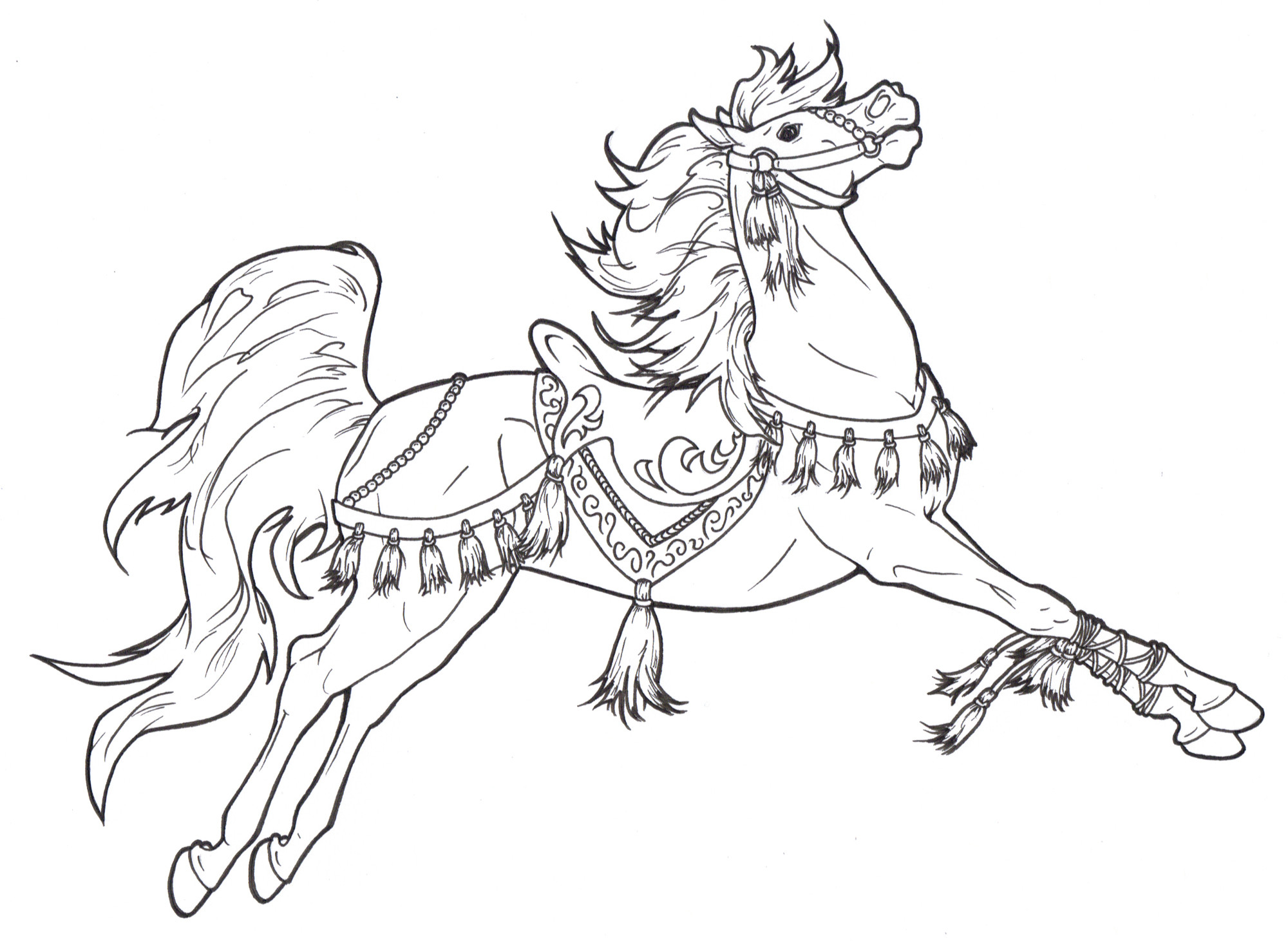 2000x1461 Fresh Coloring Pages Of Horse Saddles