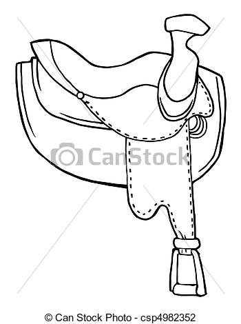 350x470 Outlined Horse Saddle Coloring Page Outline Of A Leather