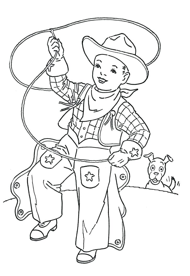 728x1057 Western Coloring Pages