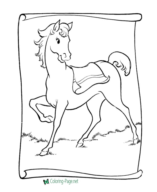 670x820 Coloring Pages Saddle Pony