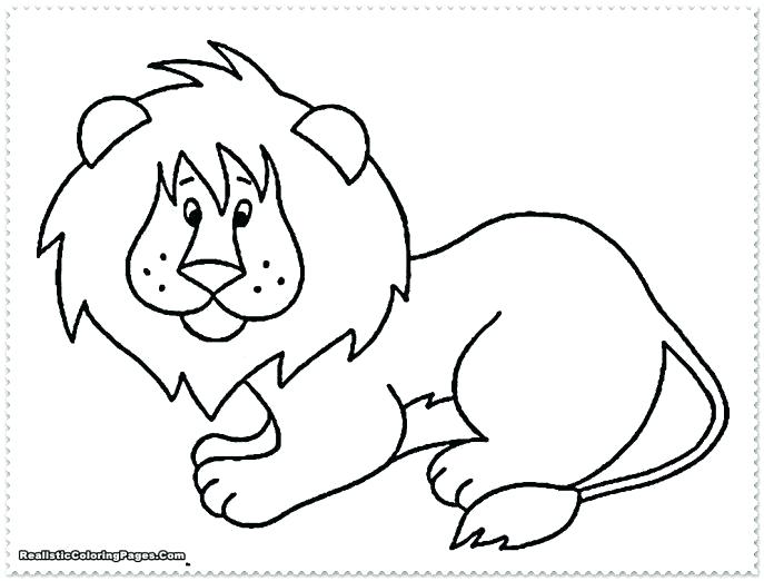 687x522 Jungle Animal Coloring Pages Medium Size Of Animal Coloring Pages