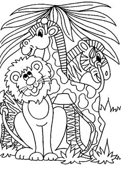 236x329 Printable Jungle Animals Coloring Pages Jungle Animals