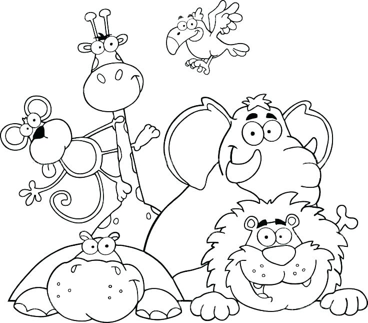 736x645 Safari Animals Coloring Pages S Safari Animals Colouring Pages