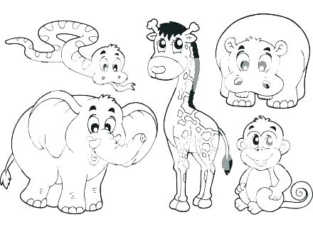 440x330 Jungle Animal Coloring Pages