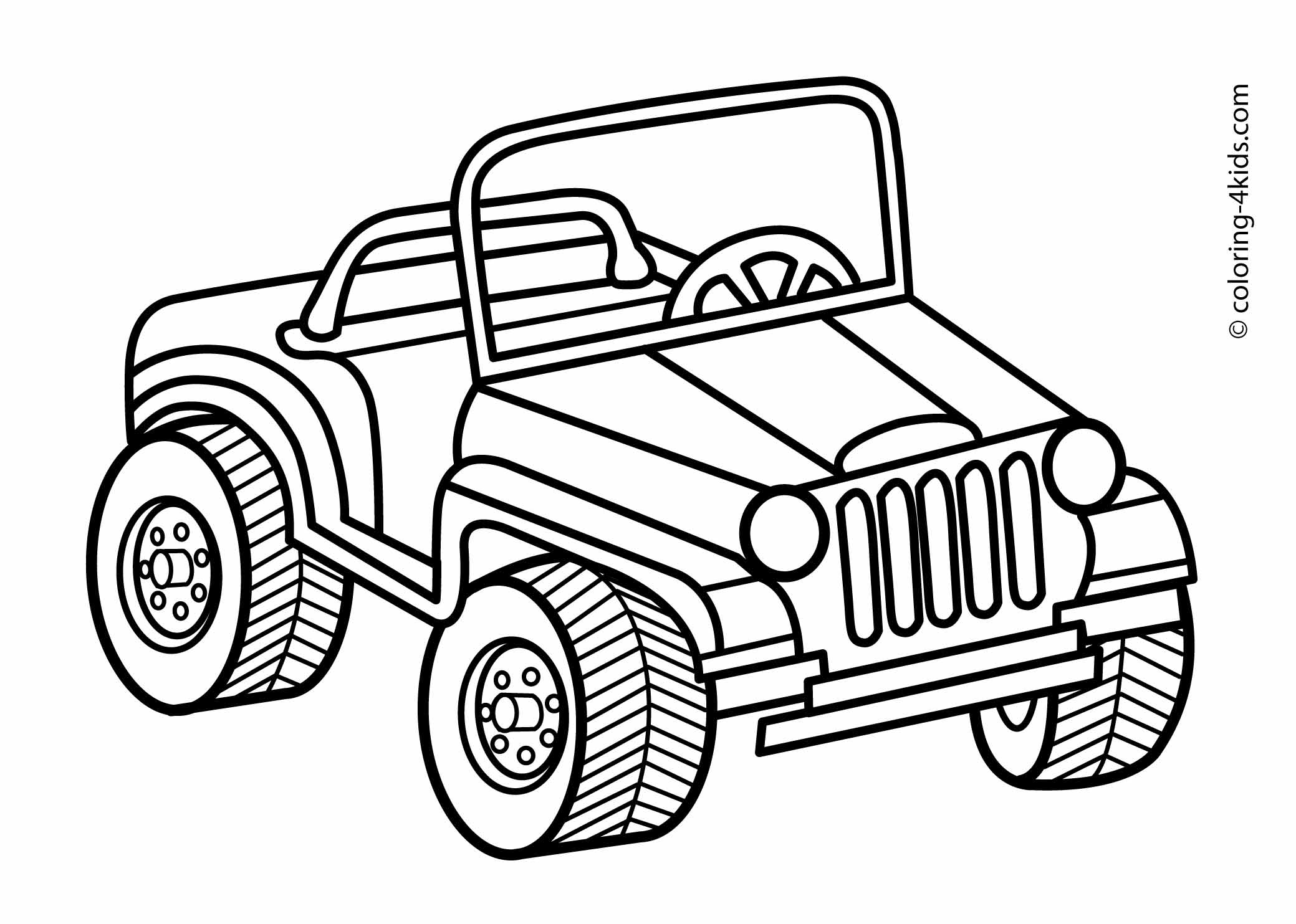 2079x1483 Jeep Transportation Coloring Pages For Kids Printable Jungle