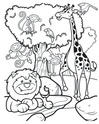 380x475 Safari Coloring Pages Safari Coloring Pages Safari Jeep Colouring