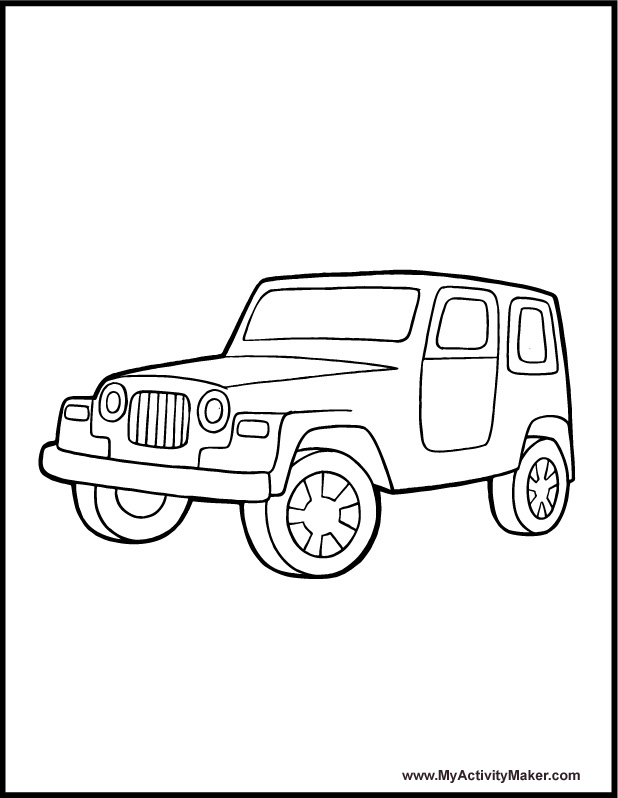 618x798 Safari Jeep Coloring Pages Coloring Pages Transportation My