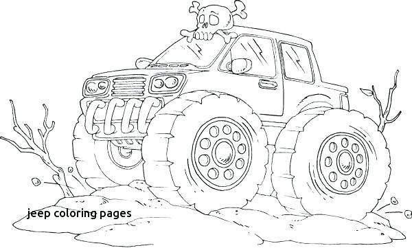 600x361 Jeep Coloring Page Car Monster Truck F Road Coloring Page F Road