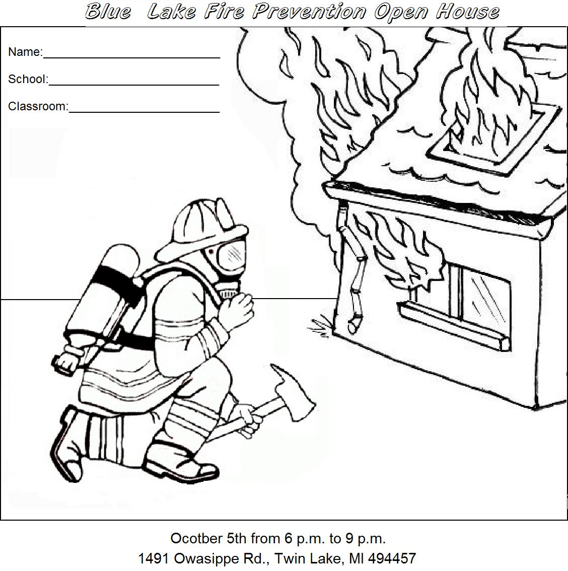1128x1134 Fire Safety Color Pages