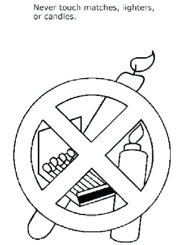 370x480 Fire Safety Coloring Sheet Fire Safety Coloring Pages