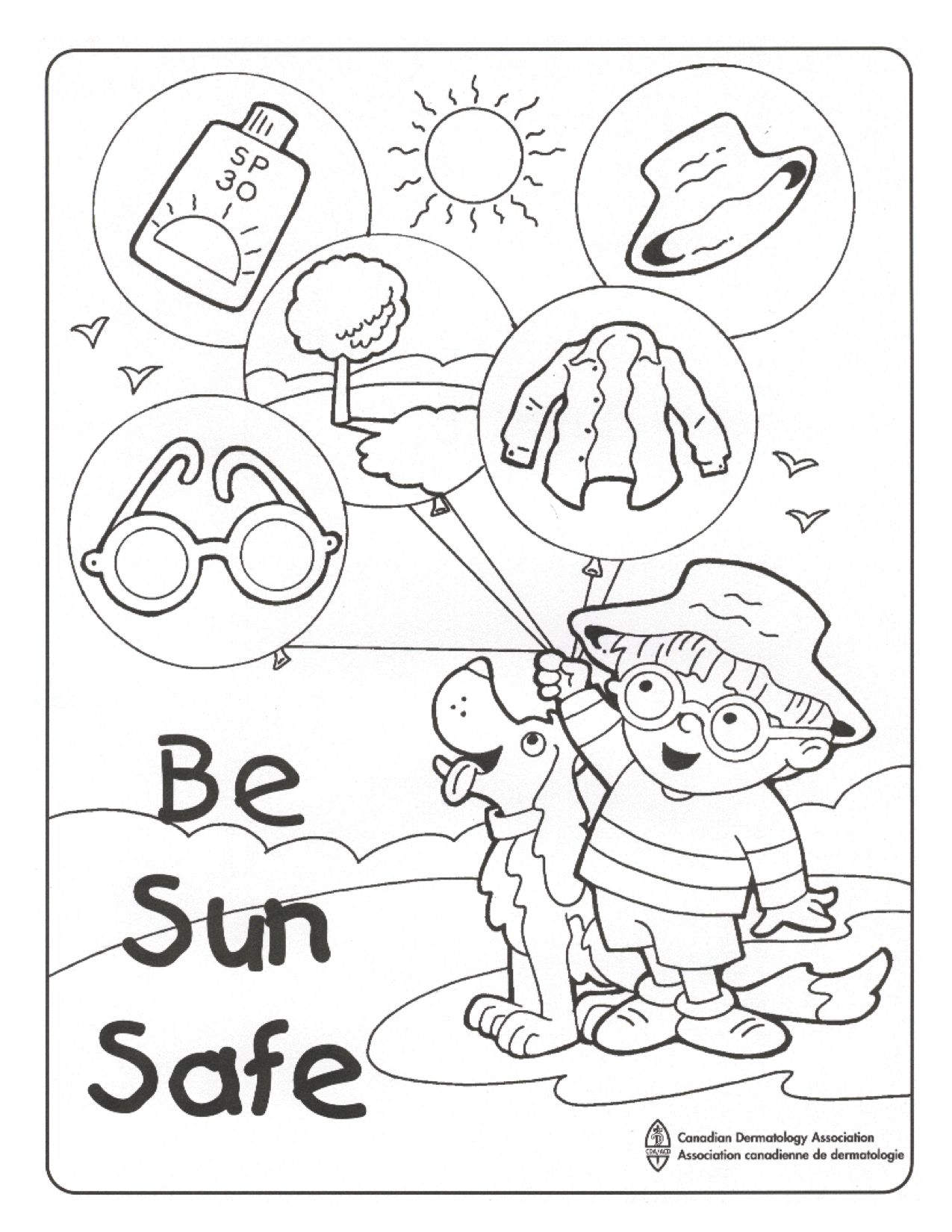 1275x1650 At Sun Safety Coloring Pages