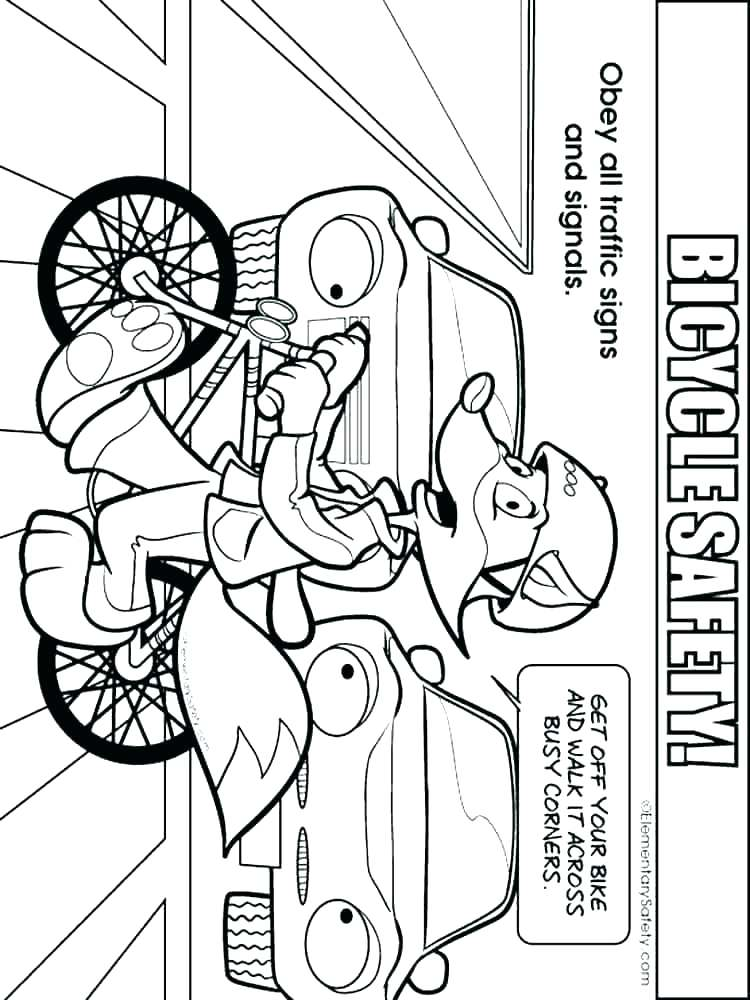 750x1000 Bicycle Safety Coloring Sheets Bike Safety Coloring Pages