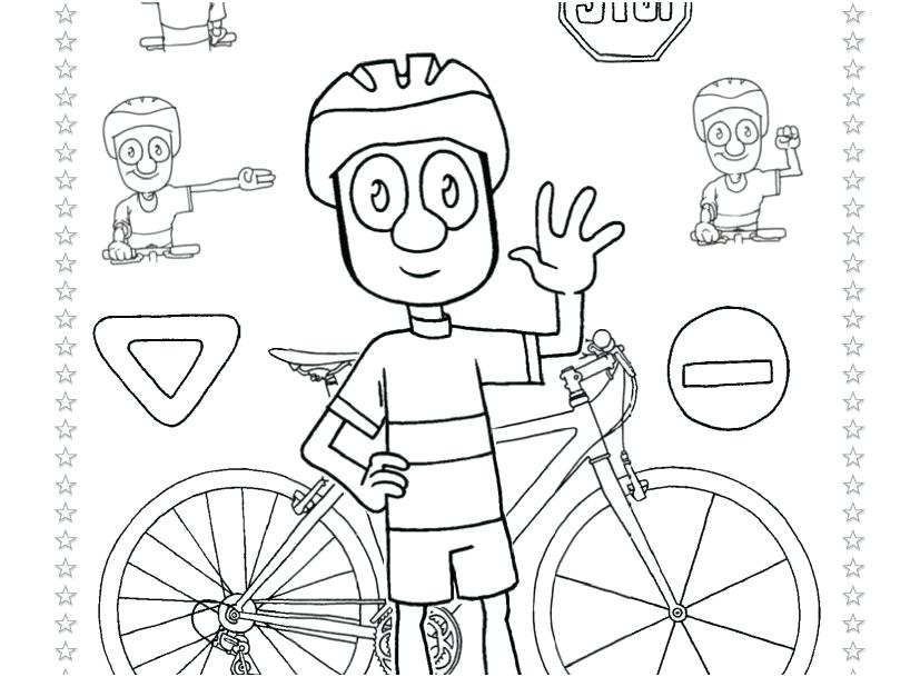 827x609 Bike Safety Coloring Pages Drawing Bike Safety Coloring Pages Free