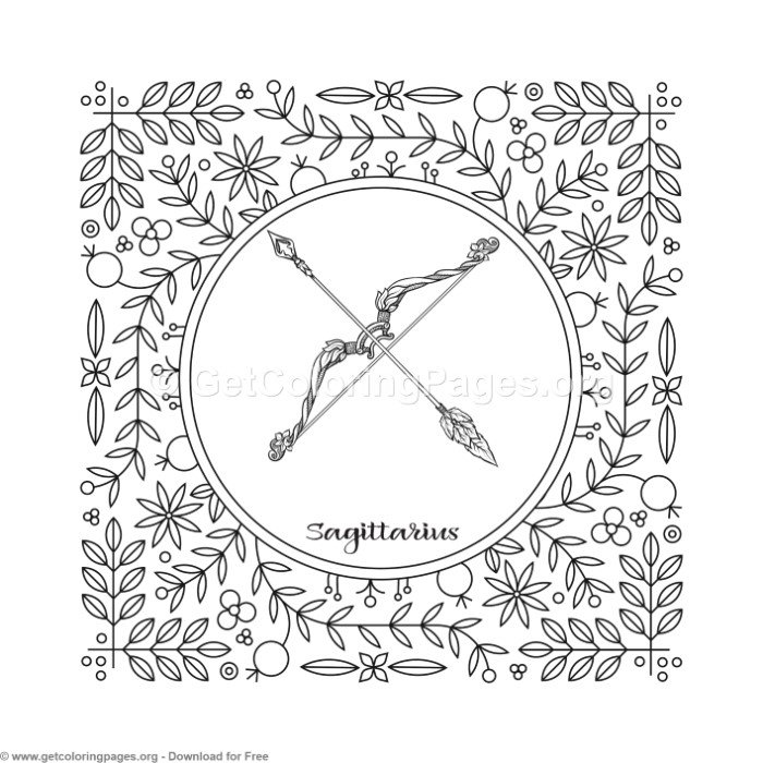Sagittarius Coloring Pages at GetDrawings com | Free for