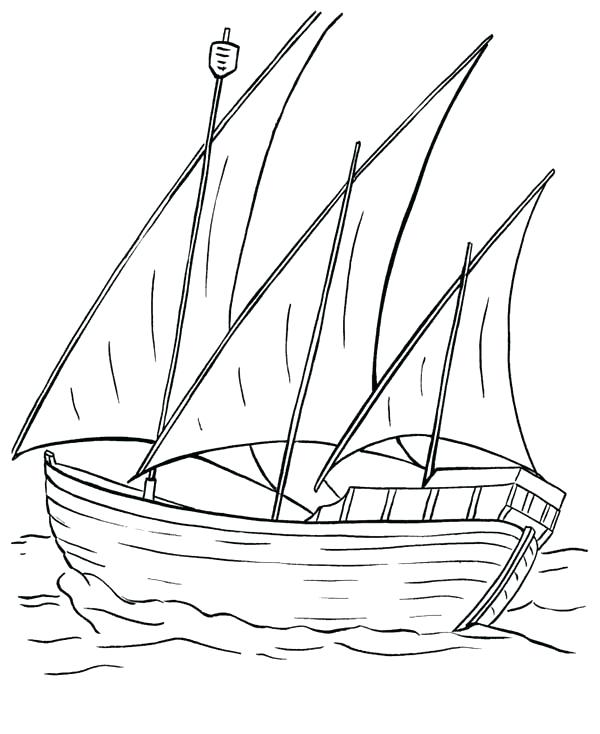600x734 Fishing Boat Coloring Pages Boat Coloring Page Fishing Boat