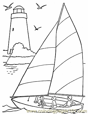 graphic about Sailboat Printable titled Sailboat Coloring Webpage at  Free of charge for