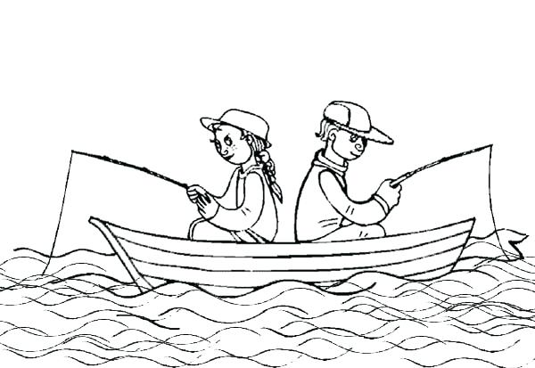 600x413 Fishing Boat Coloring Pages For Kids Used Fishing Boat On Coloring