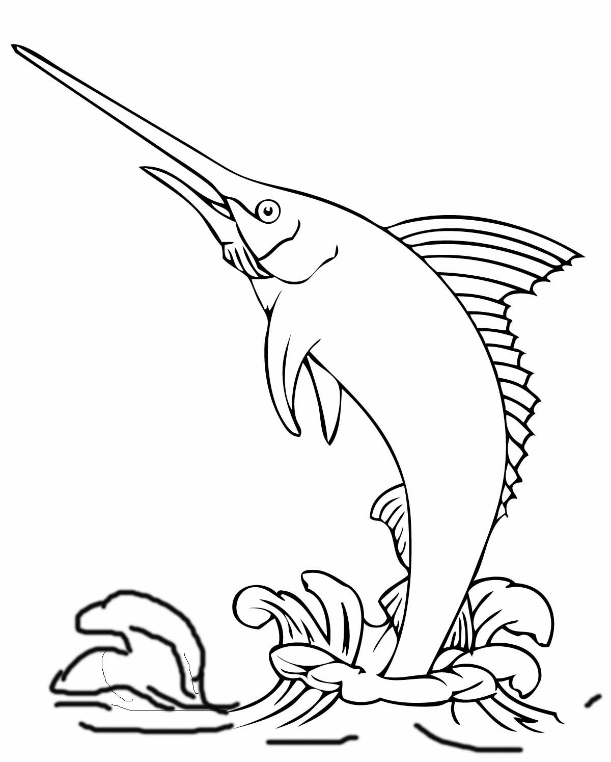 1200x1495 Marlin Coloring Pages