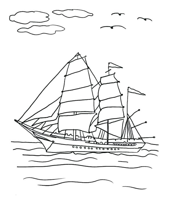 600x711 Fishing Boat Coloring Pages For Kids Used Fishing Boat On Coloring