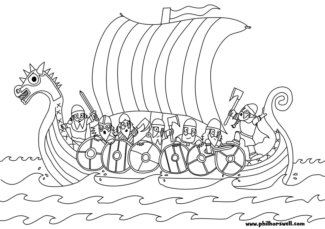 1100x777 Viking Ship Coloring Pages