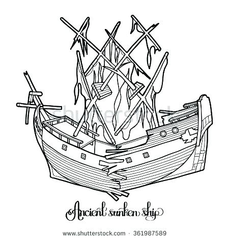 450x470 Coloring Pages Ships