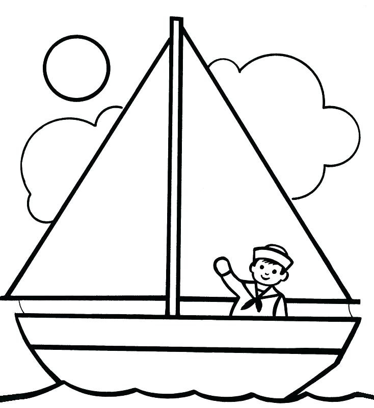 734x800 Ship Coloring Pages
