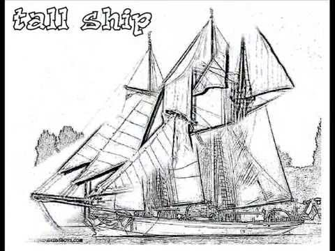 480x360 Coloringbuddymike Tall Ships Coloring Pages