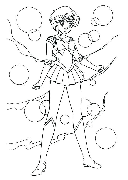 540x756 Or Sailor Moon Series Coloring Pages Sailor Mercury Sailor Moon