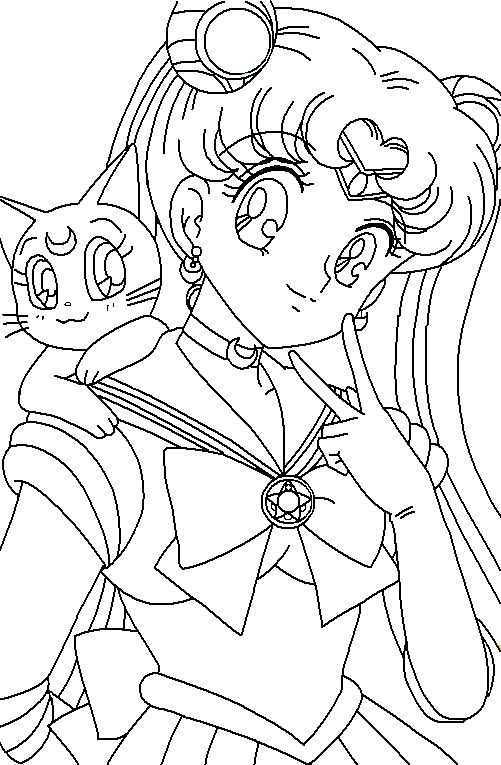 Sailor Moon Coloring Pages at GetDrawings | Free download