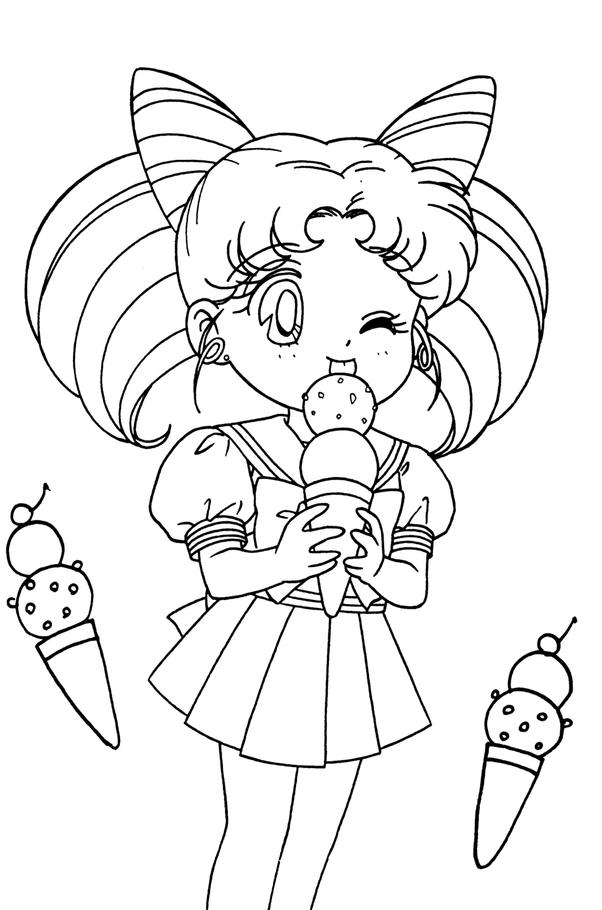 photo relating to Sailor Moon Coloring Pages Printable named Sailor Moon Coloring Webpages at  Absolutely free for