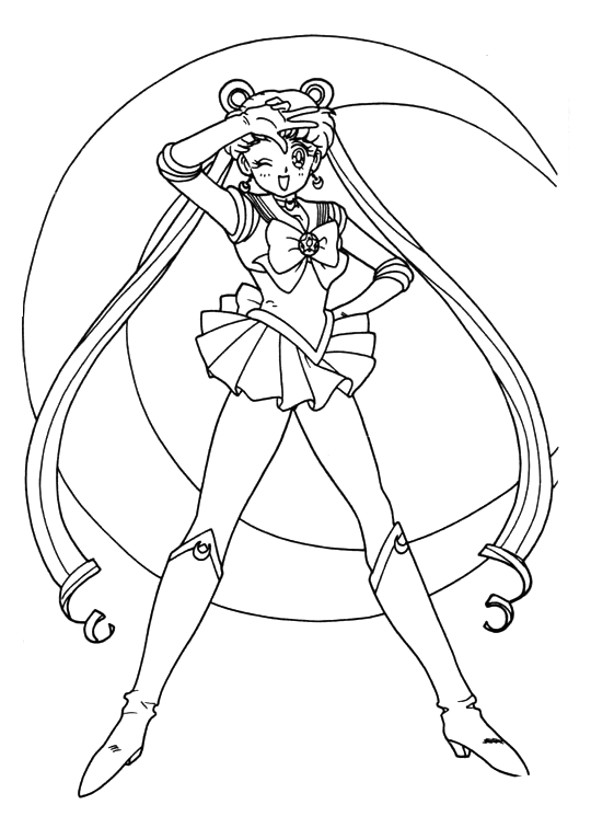Sailor Moon Group Coloring Pages at GetDrawings | Free ...