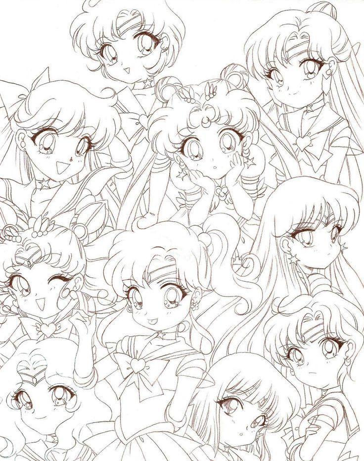 736x931 Coloriage Sailor Moon Coloring Sailor Moon Sailor Scouts Anime