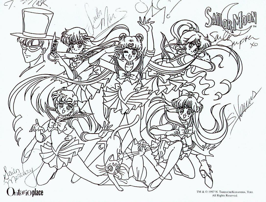 Sailor Moon Group Coloring Pages At Getdrawings Com Free For