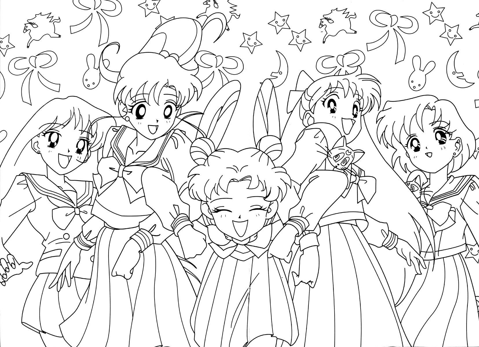 1655x1200 Best Group Coloring Book Sailor Moon Of Page Inspiration And Games