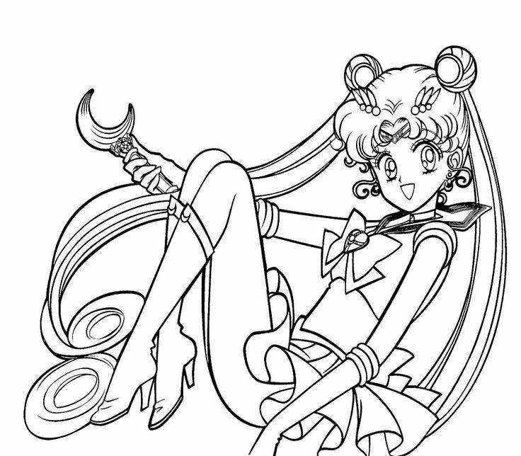 Sailor Moon Princess Coloring Pages