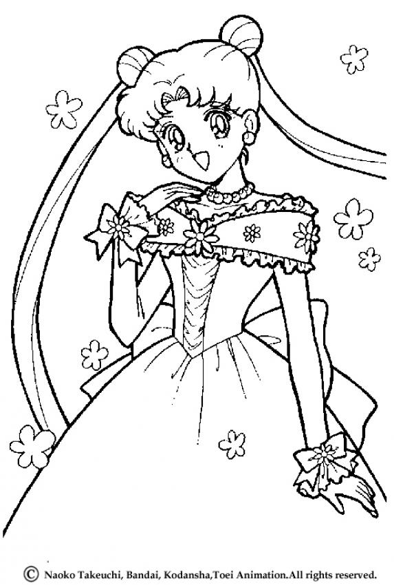 Sailor Moon Princess Coloring Pages At Getdrawings Com Free For