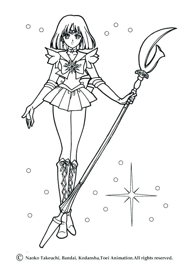 631x850 Sailor Moon Coloring Page For Kids Sailor Mars Sailor Moon