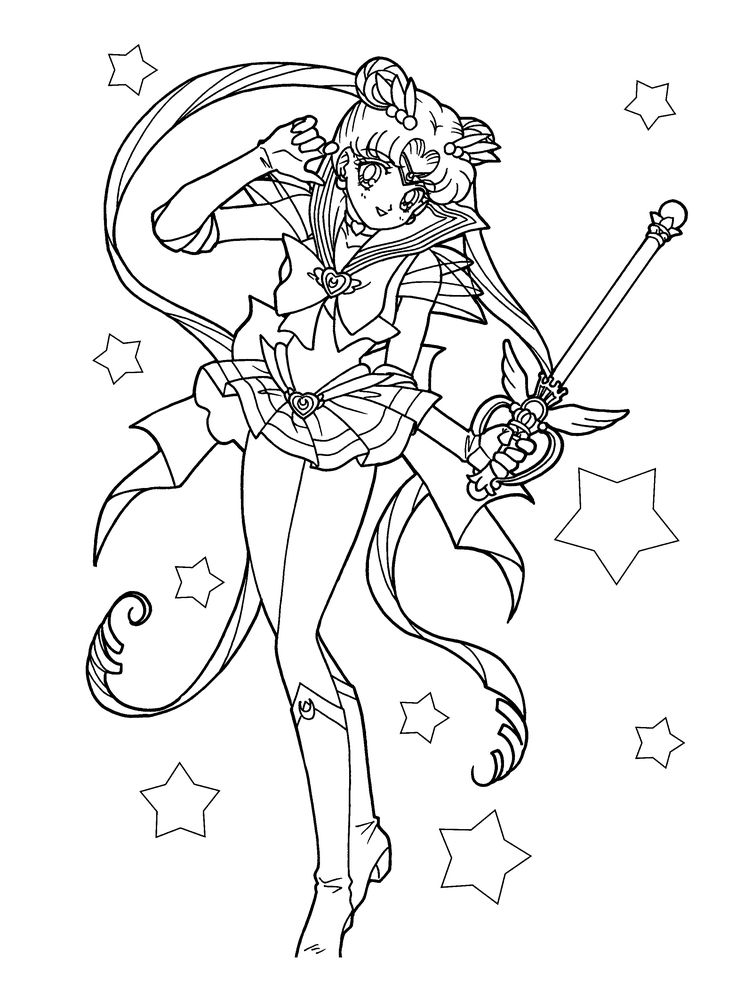 Sailor Scouts Coloring Pages